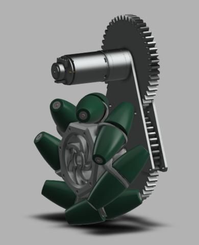 Geared motor mount