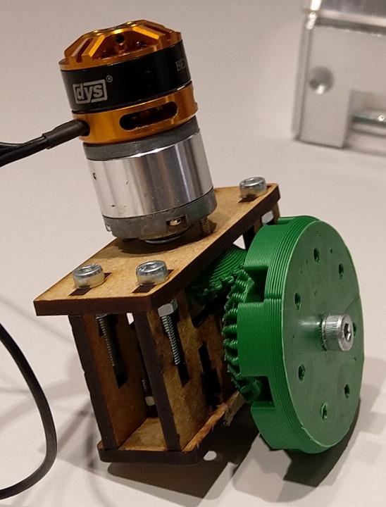 Bevel gear motor mount